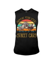 Vintage support your local street cats Sleeveless Tee thumbnail