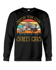 Vintage support your local street cats Crewneck Sweatshirt thumbnail