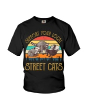 Vintage support your local street cats Youth T-Shirt thumbnail