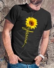 Jesus Sunflowers shirt Classic T-Shirt lifestyle-mens-crewneck-front-4