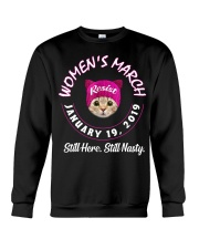 Cat women's march still here still nasty  Crewneck Sweatshirt thumbnail