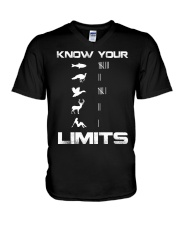 Know your limits V-Neck T-Shirt thumbnail