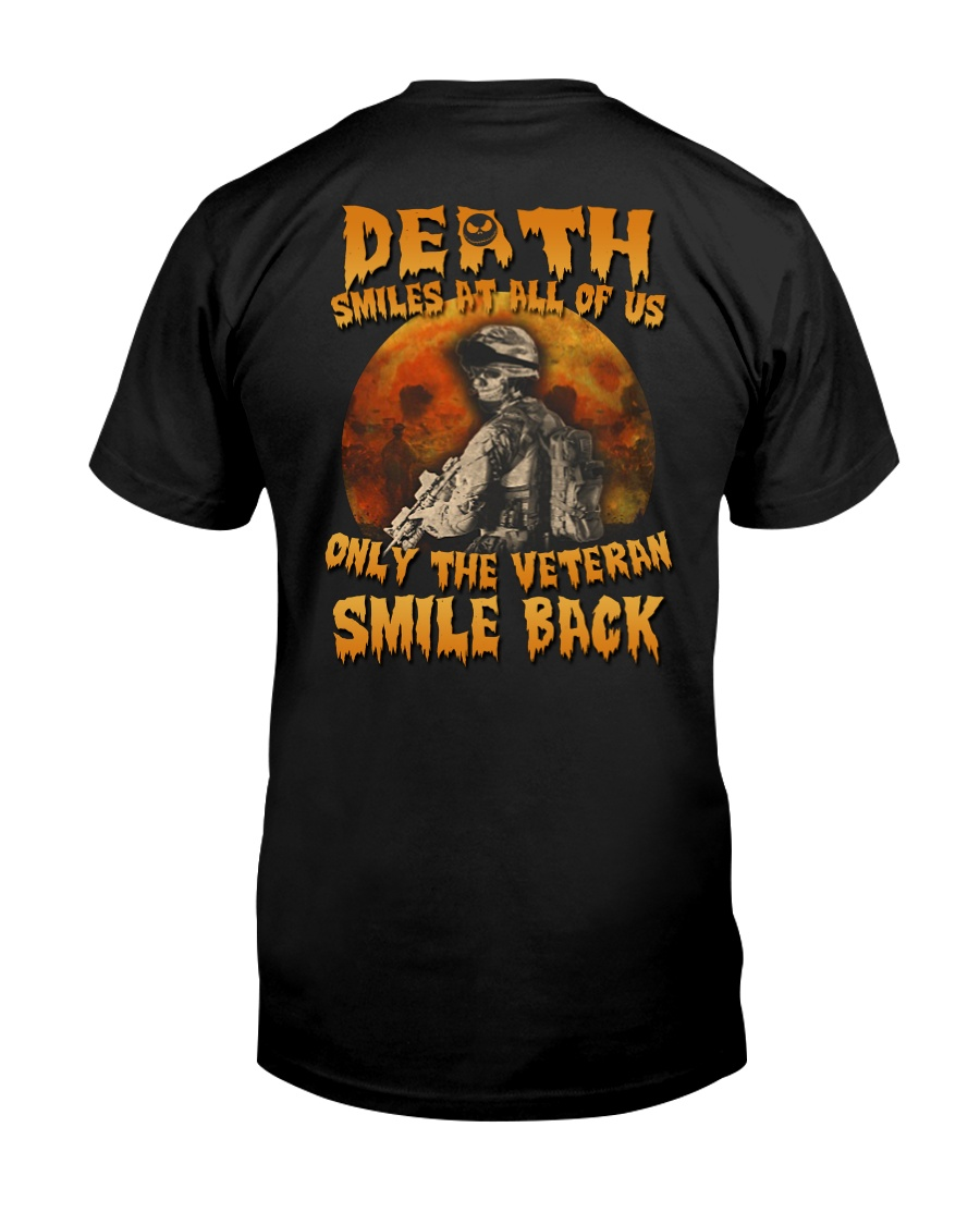 Halloween death smiles at all of us only  Premium Fit Mens Tee