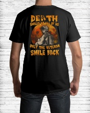 Halloween death smiles at all of us only  Premium Fit Mens Tee lifestyle-mens-crewneck-back-1