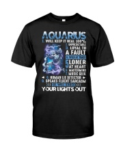 Aquarius will keep it real 100 unpredictable Classic T-Shirt tile