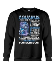 Aquarius will keep it real 100 unpredictable Crewneck Sweatshirt thumbnail
