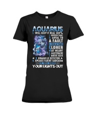 Aquarius will keep it real 100 unpredictable Premium Fit Ladies Tee thumbnail