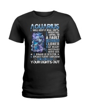 Aquarius will keep it real 100 unpredictable Ladies T-Shirt thumbnail
