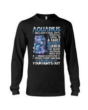 Aquarius will keep it real 100 unpredictable Long Sleeve Tee tile