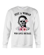 Just a woman who loves Michael Crewneck Sweatshirt thumbnail