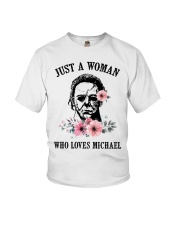 Just a woman who loves Michael Youth T-Shirt thumbnail