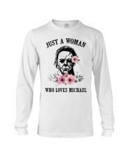 Just a woman who loves Michael Long Sleeve Tee thumbnail