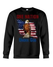 America eagle one nation under god Crewneck Sweatshirt thumbnail