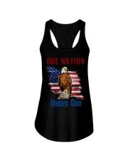 America eagle one nation under god Ladies Flowy Tank thumbnail
