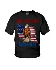 America eagle one nation under god Youth T-Shirt thumbnail