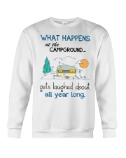 What happens at the campground gets laughed Crewneck Sweatshirt thumbnail