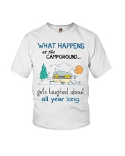 What happens at the campground gets laughed Youth T-Shirt thumbnail