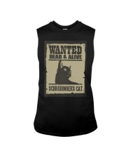 Wanted dead and alive Schrodinger's cat Sleeveless Tee thumbnail