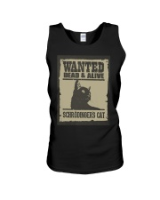 Wanted dead and alive Schrodinger's cat Unisex Tank thumbnail