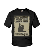 Wanted dead and alive Schrodinger's cat Youth T-Shirt thumbnail