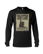 Wanted dead and alive Schrodinger's cat Long Sleeve Tee thumbnail