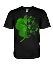 Shamrock hockey shirt V-Neck T-Shirt thumbnail