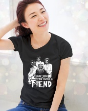 Thank You for Being a Fiend  Ladies T-Shirt lifestyle-holiday-womenscrewneck-front-1