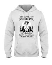 The black hat sisterhood an enchanting fly by nigh Hooded Sweatshirt thumbnail