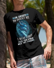Dragon in order to insult me I must first value Classic T-Shirt lifestyle-mens-crewneck-front-10