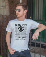 To my wife I wish I could turn back the clock  Classic T-Shirt lifestyle-mens-crewneck-front-2