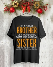 I'm a proud brother of a wonderful sweet  Premium Fit Mens Tee lifestyle-holiday-crewneck-front-2