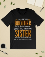 I'm a proud brother of a wonderful sweet  Premium Fit Mens Tee lifestyle-mens-crewneck-front-19