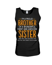 I'm a proud brother of a wonderful sweet  Unisex Tank thumbnail