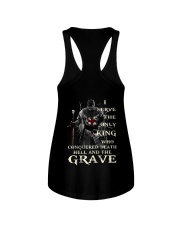 I Serve The Only King Who Conquered Death Hell Ladies Flowy Tank thumbnail