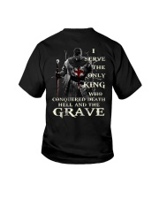 I Serve The Only King Who Conquered Death Hell Youth T-Shirt thumbnail