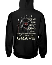 I Serve The Only King Who Conquered Death Hell Hooded Sweatshirt thumbnail