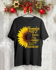 November 1977 41 years of being sunshine mixed  Classic T-Shirt lifestyle-holiday-crewneck-front-2
