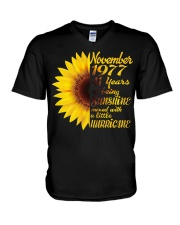 November 1977 41 years of being sunshine mixed  V-Neck T-Shirt thumbnail