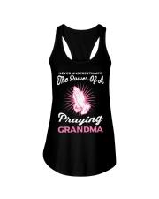 Never underestimate the power of a praying grandma Ladies Flowy Tank thumbnail