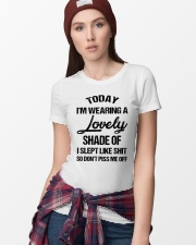 Today I'm wearing a lovely shade of I slept like Ladies T-Shirt lifestyle-women-crewneck-front-9