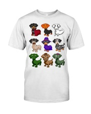 Dachshund happy Halloweiner  Classic T-Shirt thumbnail