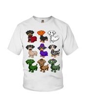 Dachshund happy Halloweiner  Youth T-Shirt thumbnail