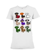 Dachshund happy Halloweiner  Premium Fit Ladies Tee thumbnail