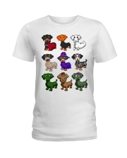 Dachshund happy Halloweiner  Ladies T-Shirt front