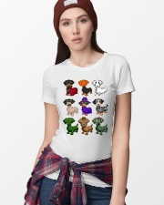 Dachshund happy Halloweiner  Ladies T-Shirt lifestyle-women-crewneck-front-9