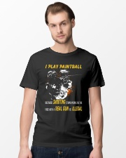 I play paintball because shooting people Classic T-Shirt lifestyle-mens-crewneck-front-15