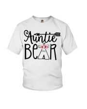 Auntie bear floral Youth T-Shirt thumbnail