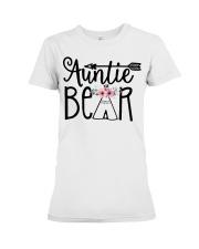 Auntie bear floral Premium Fit Ladies Tee thumbnail