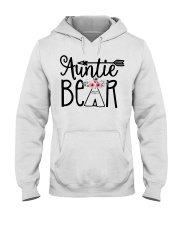 Auntie bear floral Hooded Sweatshirt thumbnail