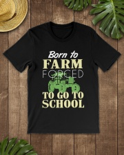 Born to farm forced to go to school  Classic T-Shirt lifestyle-mens-crewneck-front-18